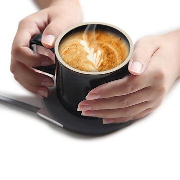 XIAOMI VH Taza eléctrica de carga inalámbrica Taza de café Taza estilo japonés Taza de cerámica Taza con set de vasos Saucer