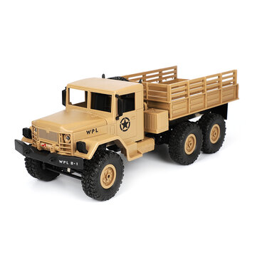 $33.11for WPL B16 1/16 2.4G 6WD Military Truck Crawler Off Road RC Car With Light RTR - Green