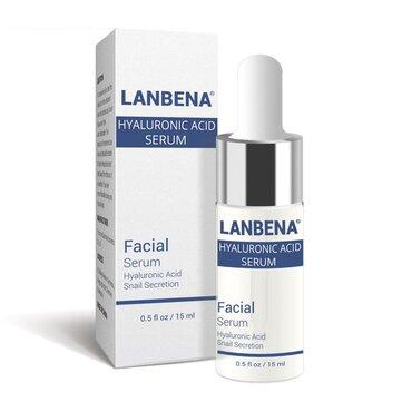 LANBENA Esencia de caracol de suero ácido hialurónico Hidratación de Acné Reparación de tratamiento Winkles anti-aning