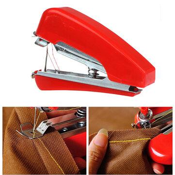 Honana WX-T32 पोर्टेबल हैंड-होल्ड मिनी सिलाई मशीन कपड़े फैब्रिक पॉकेट DIY Needlework कॉर्डलेस के लिए