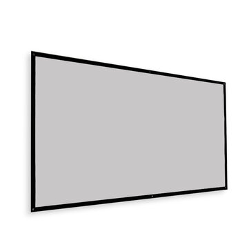 Thinyou Projector Screen Simple Portable Curtain Grey Plastic Fabric Fiber HD for Movie 3D Home Theater Indoor Outdoor 120_Inch 16:9 Throw Ratio