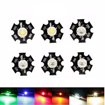 3W de alta potencia LED bombilla de PCB granos de las virutas coche de la lámpara de lectura cubierta del disipador de calor del acuario