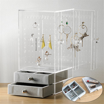 Acrylic Jewelry Holder Display Earring Necklace Bracelet Stand Desktop Organizer Shops