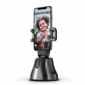 Smart 360° Selfie Shooting Gimbal Face Object Tracking Selfie Stick Apai Genie Smart Phone Holder For Photo Vedio Vlog Live Show