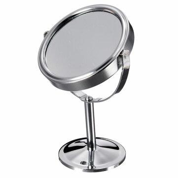 Magnifying Beauty Cosmetic Makeup Roterbar bärbar dubbelsidig spegel