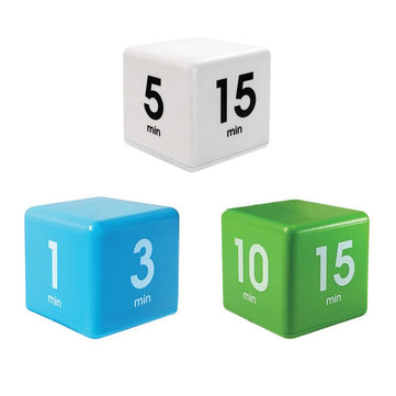 Workout Timer With Adjusted Volume 15 30 And 60 Minutes For Time Management Kids Timer Kitchen Timer Cube Timer 5 White Not Included Batteries)