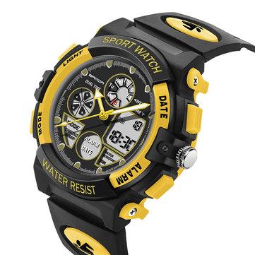 SANDA 116 Çift Ekran Dijital İzle Çocuklar Colorful Alarm Aydınlık Takvim Kronometre Spor İzle