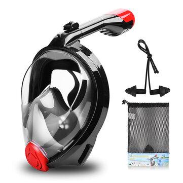 Full Face Snorkeling Mask Underwater Anti Fog Swim Diving Scuba Mask With Detachable Camera Holder