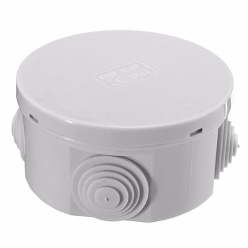 80x40mm ABS IP44 Waterproof Round Shape Electric Junction Box Electric Project Enclosure Case with 4 Grommets Cable for Outdoor DIY Electric