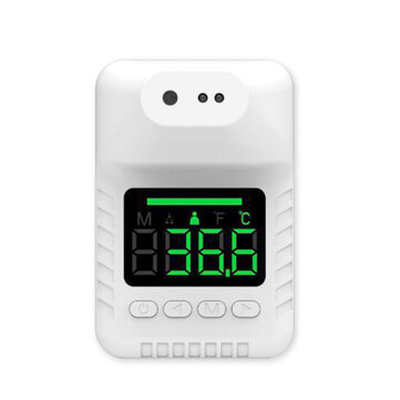 Non contact Wall Mount Smart Sensor Portable Automatic Body Temperature Detector Infrared Forehead Thermometer High Precision Coupon Code and price! - $10