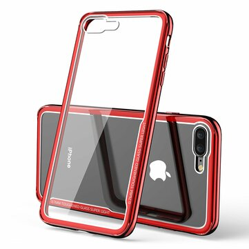 Bakeey Plating Scratch Resistant Clear Tempered Glass Beskyttelsesveske For iPhone 7 Plus/8 Plus