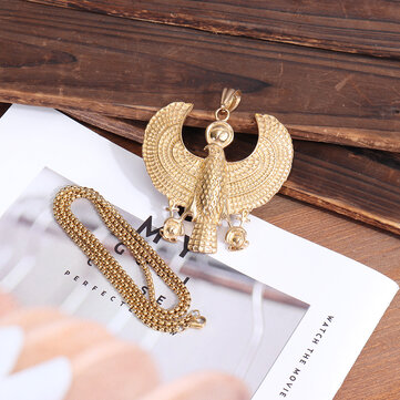 Buy Stainless Steel Horus Pendant Men's Pendant Necklace Gold with 3 on Gipsybee.com