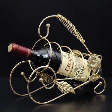 Rượu vang Retro Champange Chai Chủ Giá rượu Phụ kiện trang trí nhà