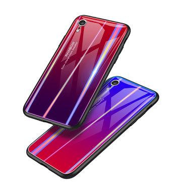 Bakeey Laser Gradient Herdet Glass Beskyttelsesveske For iPhone XR / XS/XS Max