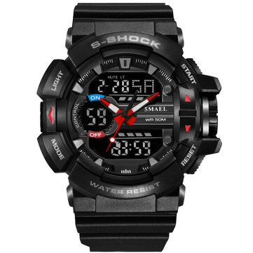 SMAEL 1436 Military Style LED Digital Watch Display Time Date Sport Jam tangan