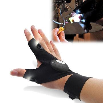 ZANLURE Multifunctional EDC Fishing Fingerless Glove LED Repair Flashlight Survival Outdooors Rescue Tool