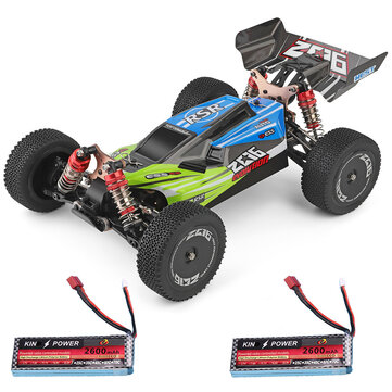 Wltoys 144001 1 or 14 2.4G 4WD High Speed Racing RC Car Vehicle Models 60km or h Two Battery 7.4V 2600mAh