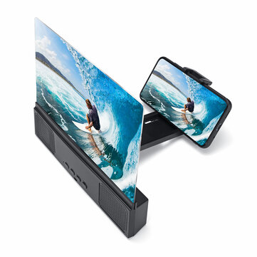 """12"""" 3D Phone Screen Magnifier Movie Video Screen Amplifier With bluetooth Speaker For Smart Phone iPhone Samsung Huawei Xiaomi"""