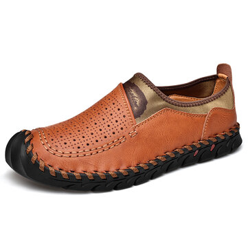 Men Breathable Hollow Out Slip On Casual Business Oxfords