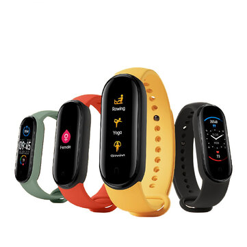 [BT 5.0]Original Xiaomi Mi band 5 1.1 Inch AMOLED Wristband Customized Watch Face 11 Sport Modes Tracker Smart Watch Global Version - Black