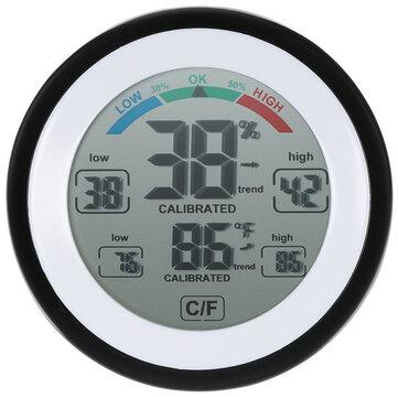 DANIU Multifungsi Digital Thermometer Hygrometer Suhu Kelembaban Meter Max Min Nilai Trend Tampilan ℃ / / Layar Sentuh