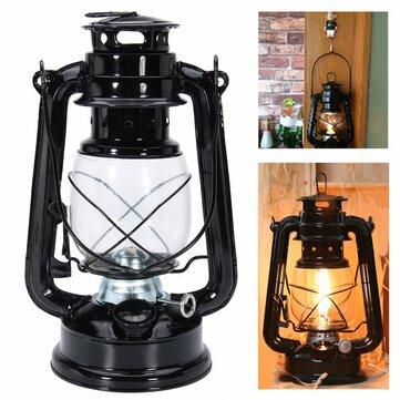 IPRee®レトロオイルランタン屋外ガーデンキャンプ灯油パラフィンポータブルハンギングランプ