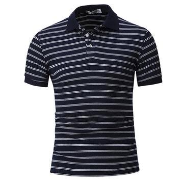 स्ट्राइप हिट कलर की टी-शर्ट पुरुषों की आरामदायक शॉर्ट-शर्ट टी शर्ट