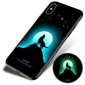 Bakeey 3D natt lysende beskyttelsesveske til iPhone X