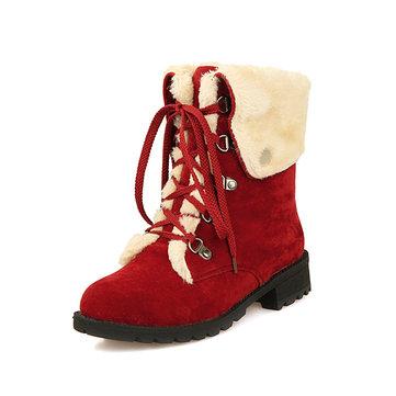 שלג נשים חורף לשמור על חם תחרה עד שטוח נעליים