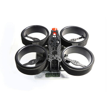 HSKRC Brave163 163mm Wheelbase 3 Inch Duct Frame Kit w/ Protective Sponge Support 20x20/ 30.5x30.5mm Stack for RC Drone FPV Racing