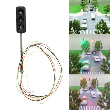 Mini Micro Traffic Signal Turn Lights Model HO OO Scale Railway Crossing Train Street Light Model