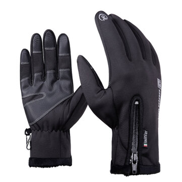 Waterproof Touch Screen Gloves For Motorcycle Cycling Skiing Men Black S M L XL 2XL