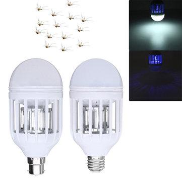 E27 B22 15W Lâmpada de Controle de Insetos Anti-Mosquito Eletrônico Fly Zapper LED Lâmpada AC220V AC110V