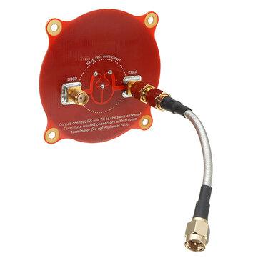 Realacc Triple Feed Patch-1 5.8GHz 9.4dBi Directional Circular Polarized FPV Pagoda Antenna for Fatshark DJI Eachine Goggles