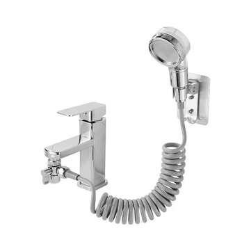 Suleve Bathroom Wash Face Basin Water Faucet Tap External Shower Head Set Filter Function Hair Washing Faucet Rinser Extension Kits Coupon Code and price! - $12