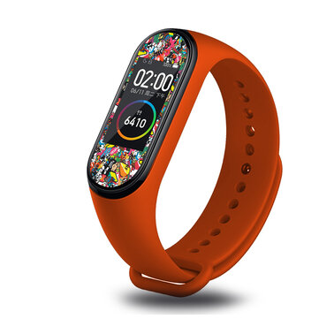 Colorful Pattern Sticker Watch Screen Protector for Xiaomi Miband 4
