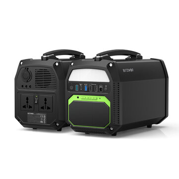 BlitzWolf® BW PG1 462Wh (300W 500W 3.7V 124800mAh) Outdoor Portable Power Station Power Bank Emergency Energy Supply Mobile Power Source Charger EU Plug Coupon Code and price! - $309.76