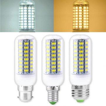 3.5W 5W E27 E14 B22 SMD 4014 LED Milho Lâmpada Home iluminação Decoração AC110 / 220V