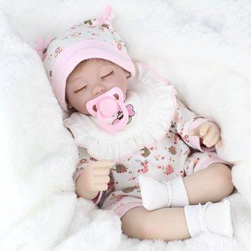 NPK 16 Inch 41cm Reborn Baby Realistic Soft Silicona Muñeca hecha a mano Lifeike Baby Girl Dolls Play House Toys Regalo de cumpleaños