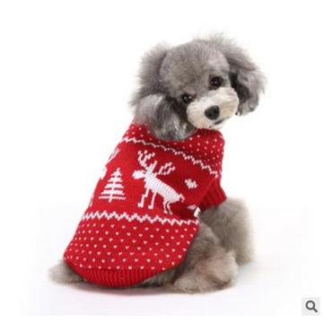 क्रिसमस पालतू कुत्ते CatSnow और हिरण शीतकालीन गर्म स्वेटर हुडी Pappy Jumpsuits