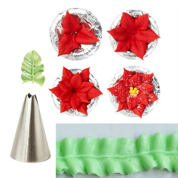 7pcs Leaf Cup Cake Decor Stainless Steel Icing Piping Nozzles Set Pastry Tips