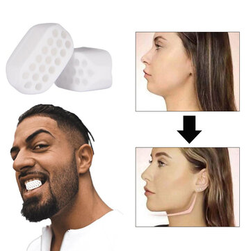 1/2PCS Unisex Facial Masseter Toner Chin Line Exerciser Chew Ball Silicone Chew Bite Breaker Training for sale in Litecoin with Fast and Free Shipping on Gipsybee.com
