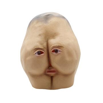 Latex Butt Head Maschera Adulto Culo Halloween Party Costume accessorio Prop Cosplay Maschera