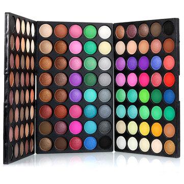 POPFEEL 120 Colors Mini Eyeshadow Palette Set Kit Matte Glitter Shimmer Cosmetic Portable Eye Makeup