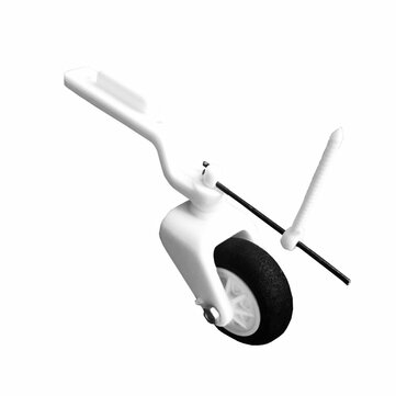 Micro Steerable Nylon Tail Wheel Assembly Landing Gear 25mm For Small Rear Three-point RC Airplane