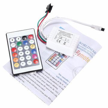 DC12V 24 Key IR Remote Controller for WS2811 LED Strip Light