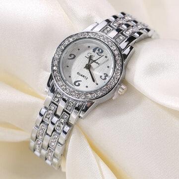LVPAI XR1671-1 Gaun Berlian Wanita Jam Tangan Baja Penuh Kuarsa Desain Elegan