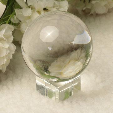 Cuarzo cristal mágico claro puro que cura reflector de la pelota slickball esfera 60 mm con soporte