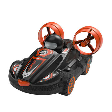 JJRC Q86 2 In 1 Amphibious RC Hovercraft Boat Stunt Drift Car Vehicles Model RTR Kids Toys