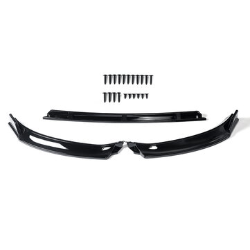 Front Bumper Lip Body Spoiler Kit Glossy Black For VW Golf MK7 MK7.5 2014-2019 for sale in Litecoin with Fast and Free Shipping on Gipsybee.com